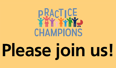 Practice champions please join us